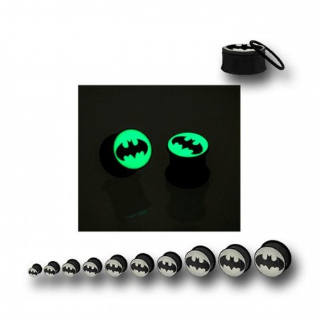 Batman Symbol Acrylic Glow in the Dark Plugs