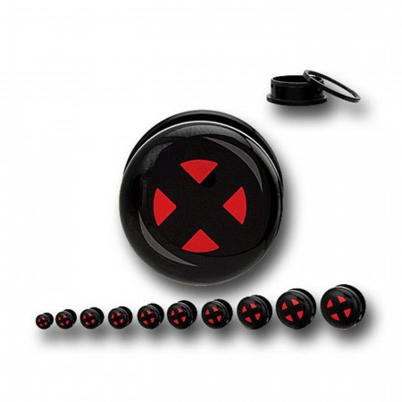 X-Men Symbol Acrylic Screw Fit Plugs
