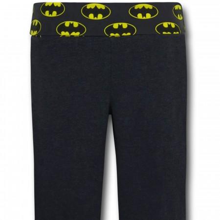 Batman Symbols Women's Heather Charcoal Yoga Pants