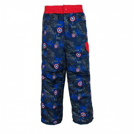 Captain America Shield Kids Snow Pants