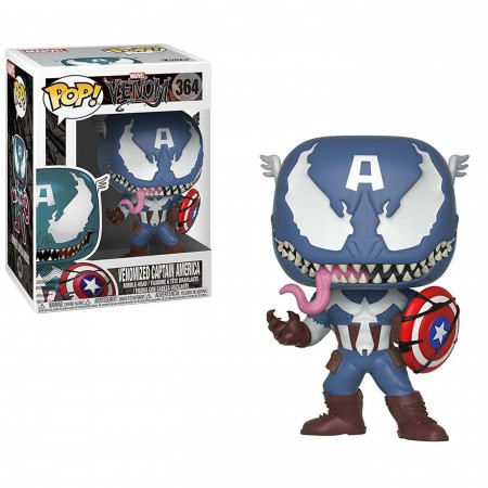 Venom Captain America Funko Pop Bobble Head