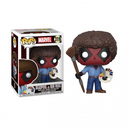 Deadpool Parody Bob Ross Funko Pop Vinyl Figure
