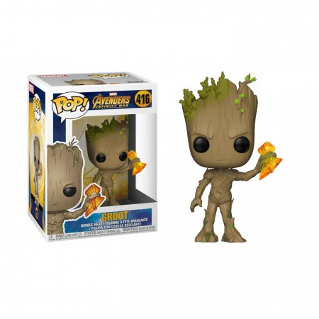 Avengers Infinity War Groot with Stormbreaker Funko Pop Bobble Head