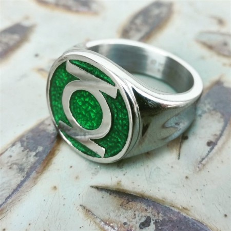 Green Lantern Symbol Stainless Steel Ring