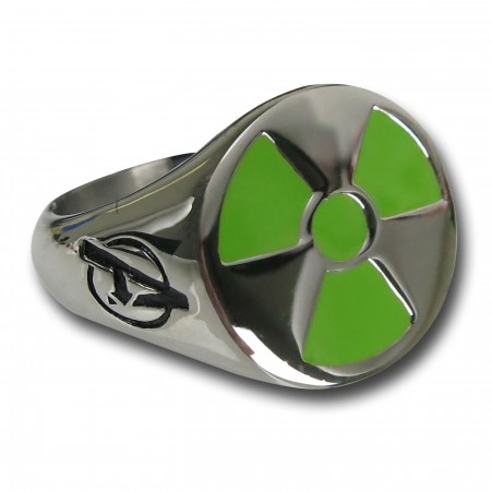Hulk Radiation Symbol Avengers Ring