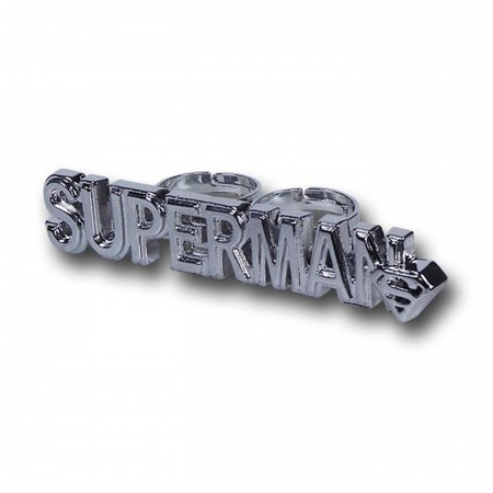 Superman Logo Two-Finger Ring