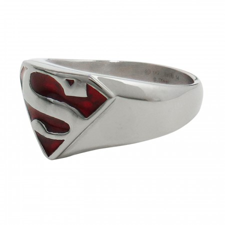 Superman Red Translucent Symbol Ring