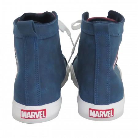 Captain America Shield Logo Men's High Top Sneakers