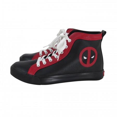 Deadpool Logo Men's High Top Sneakers
