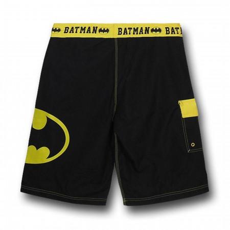 Batman Symbol Black Board Shorts
