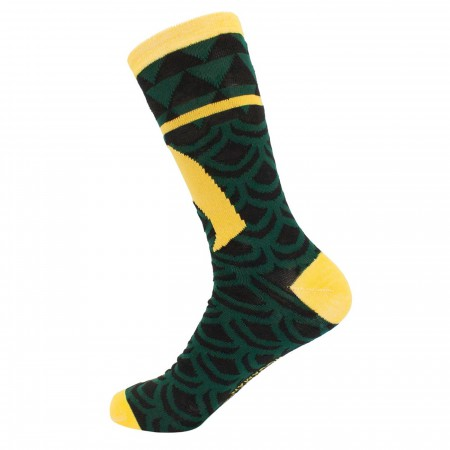 Aquaman Armor Costume Crew Socks