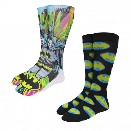Batman Action Burst Photoreal Socks 2-Pack