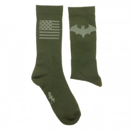 Batman Hush Salute To Service Athletic Crew Socks