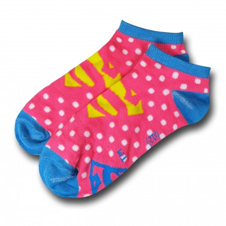 Batman and Superman Dotted Women's Ankle Socks 2-Pack