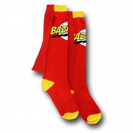 Big Bang Theory Red Bazinga Women's Caped Socks