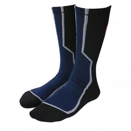 Captain America Two-Tone Athletic Crew Socks