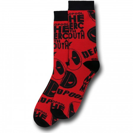 Deadpool All Over Print Crew Socks