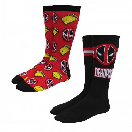 Deadpool Tacos Crew Socks 2-Pack