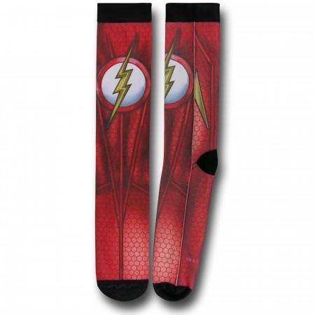 Flash Costume Sublimated Crew Socks