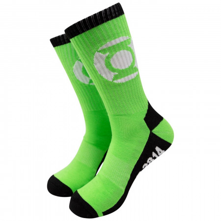 Green Lantern John Stewart Sector 2814 Athletic Socks