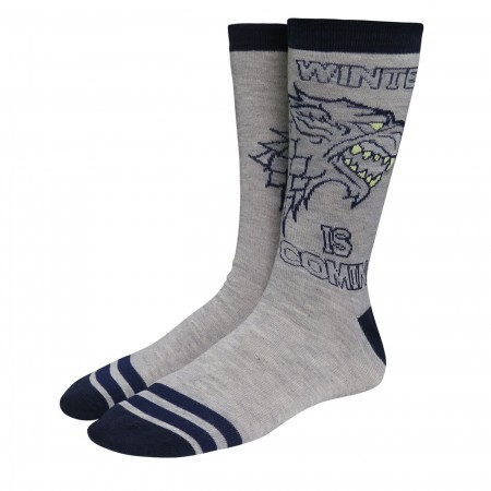 Game of Thrones House Stark Crew Socks 2-Pack