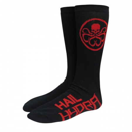Hail Hydra Red Symbol Crew Socks