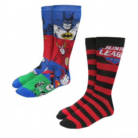 Justice League Retro Socks 2-Pack