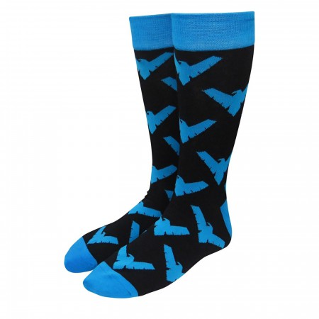 Nightwing All-Over Print Crew Socks