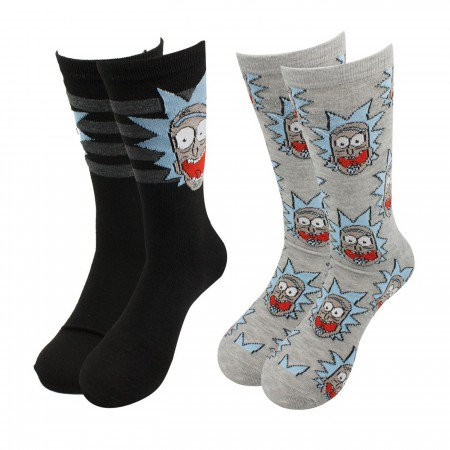 Rick and Morty Wubba Lubba Dub-Dub Crew Socks 2-Pack