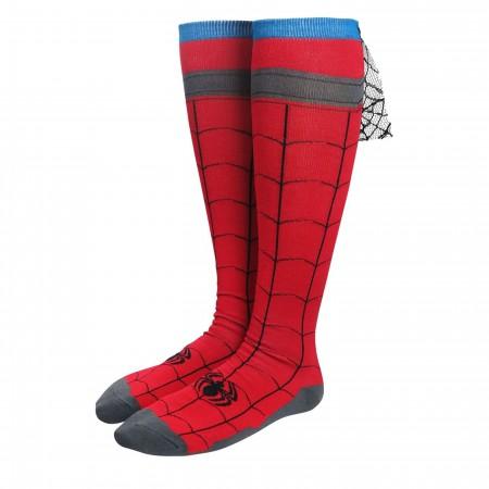 Spider-Man Costume Women's Knee High Cape Socks