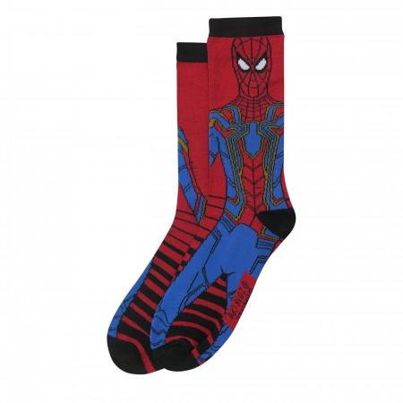 Infinity War Spider-Man Logos Crew Socks 2-Pack