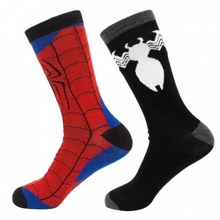 Spider-Man & Venom Crew Sock 2 Pack