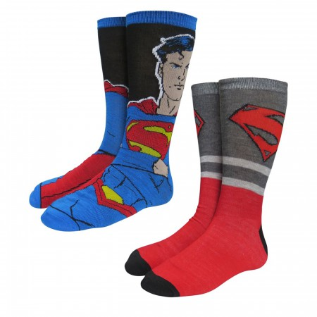 Superman Big Blue Cheese Crew Socks 2-Pack