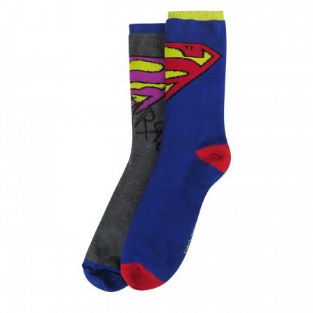 Superman Bizarro Reversible Crew Socks