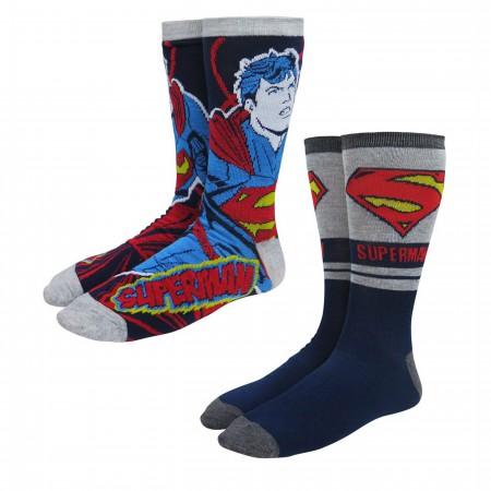 Superman New 52 Crew Socks 2-Pack