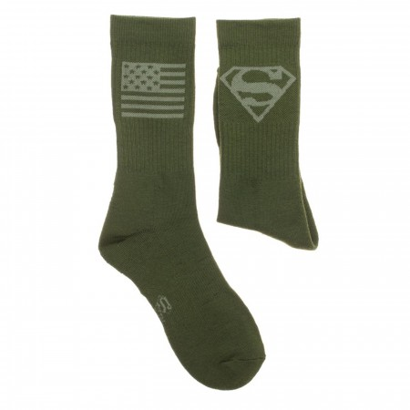 Superman Salute To Service Athletic Crew Socks