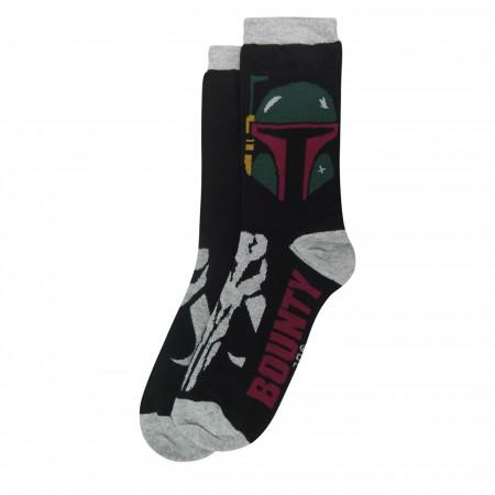 Star Wars Boba Fett Bounty Hunter Crew Socks