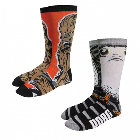 Star War Chewbacca & Porg Sock 2-Pack