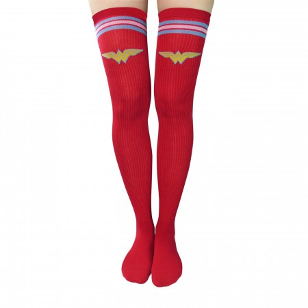 Wonder Woman Athletic Thigh High Socks