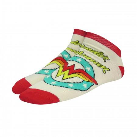 Wonder Woman Logos Women's Low Cut Socks 5-Pack