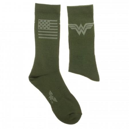 Wonder Woman Salute To Service Athletic Crew Socks