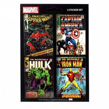 Marvel Sticker Comic Covers Set Of 4