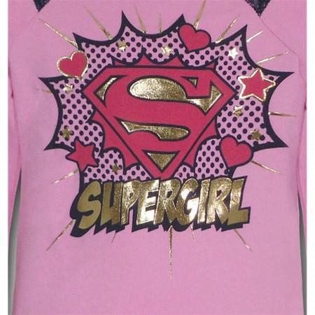 Supergirl Juvenile Unbrushed Fleece Sweatshirt