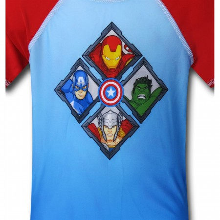 Avengers Heads Kids Rash Guard