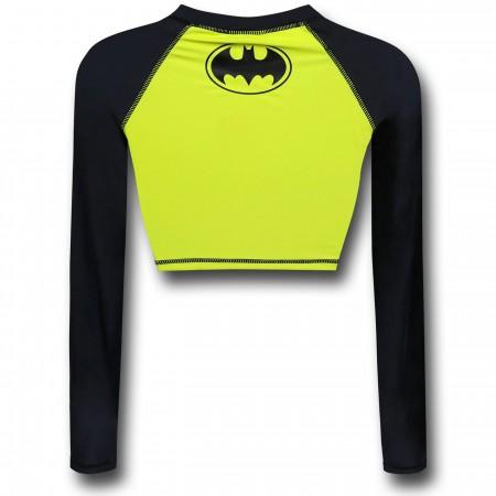 Batman Crop Top Rash Guard