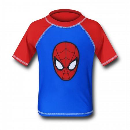 Spiderman Head Kids Rash Guard