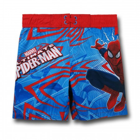 Spiderman Kids Swim Trunks