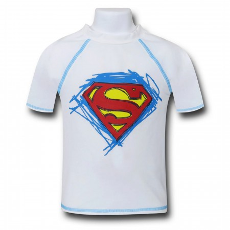 Superman Symbol Kids Rash Guard