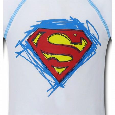 Superman Symbol Kids Rash Guard