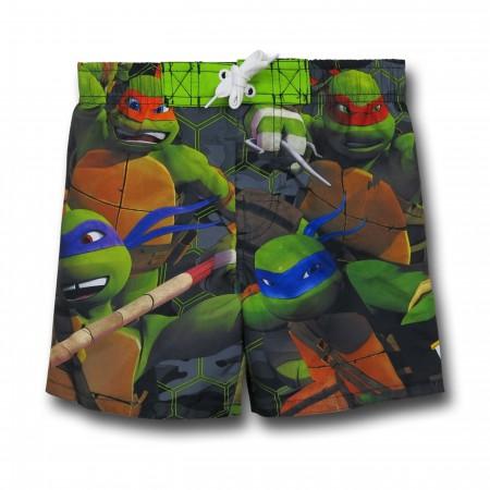 TMNT Kids Swim Trunks